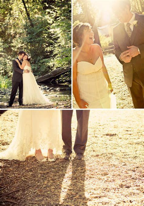 pastel vintage wedding in the woods