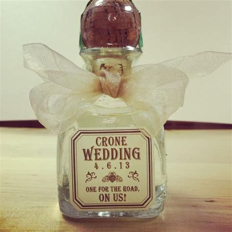 Tequila Anyone?? Wedding Favor, paired with a hangover kit