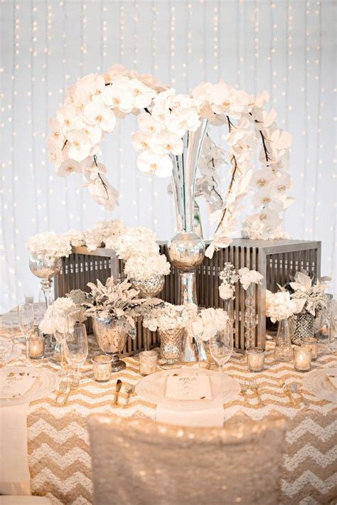 Gold, Silver and Cream Wedding Color Inspiration   Gold