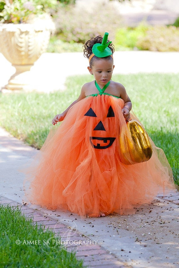 Pumpkin Face OTT Tutu Dress