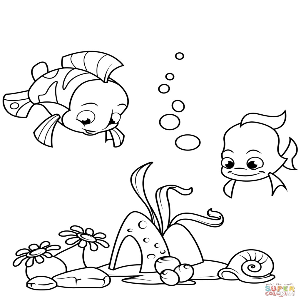 Coral Reef Fish Coloring Pages at GetDrawings | Free download