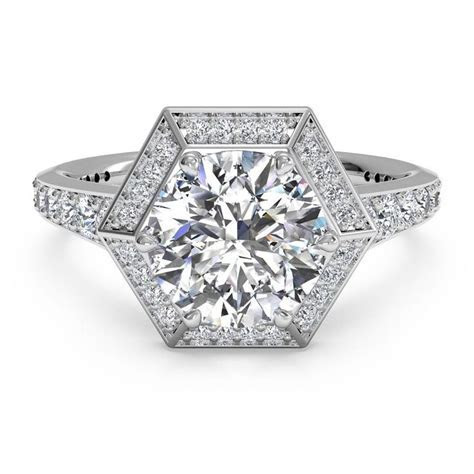 25  best ideas about Hexagon Engagement Ring on Pinterest