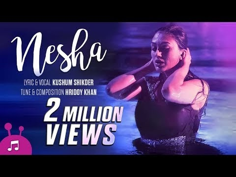 Nesha Lyrics By Kushum Shikder | Khaled Hossain Shujon-Bangla Music Video 2017