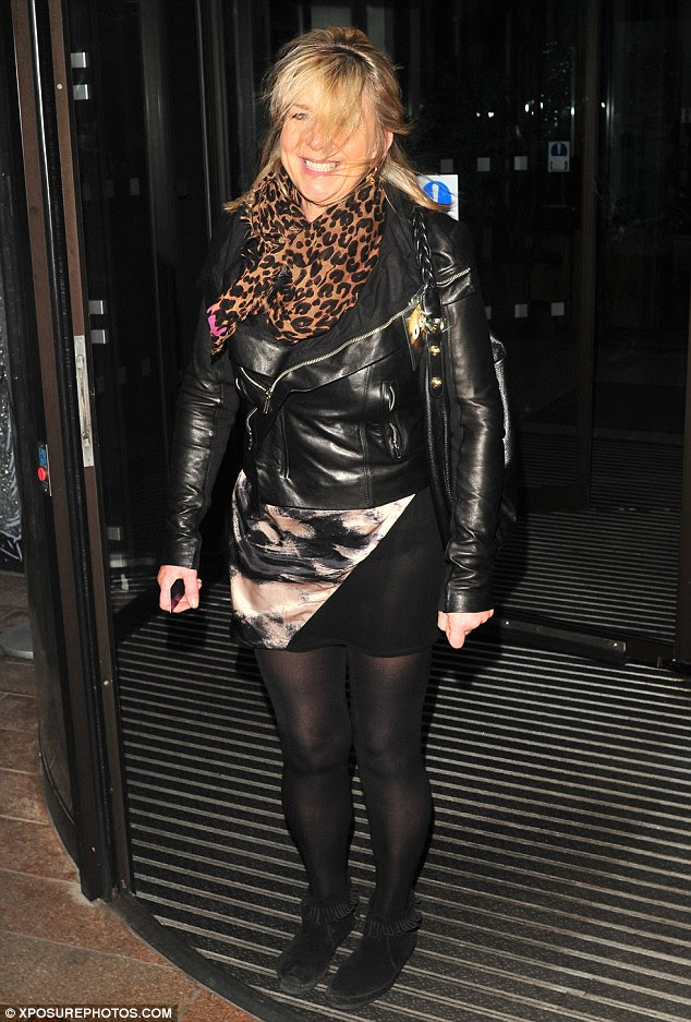 Fern Britton In Opaques And A Short Skirt