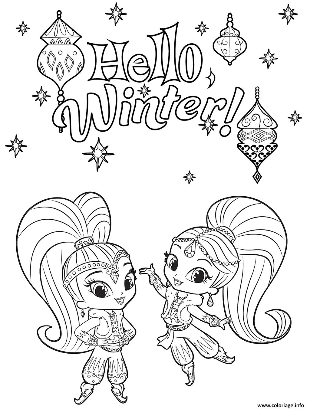 Coloriage Shine And Shimmer Winter Dessin   Imprimer
