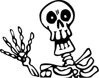 Free Skeleton Clipart - Public Domain Halloween clip art, images ...