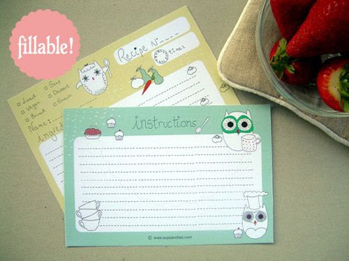 14 Free Bridal Recipe Card Printable | visit www.freetemplateideas ...