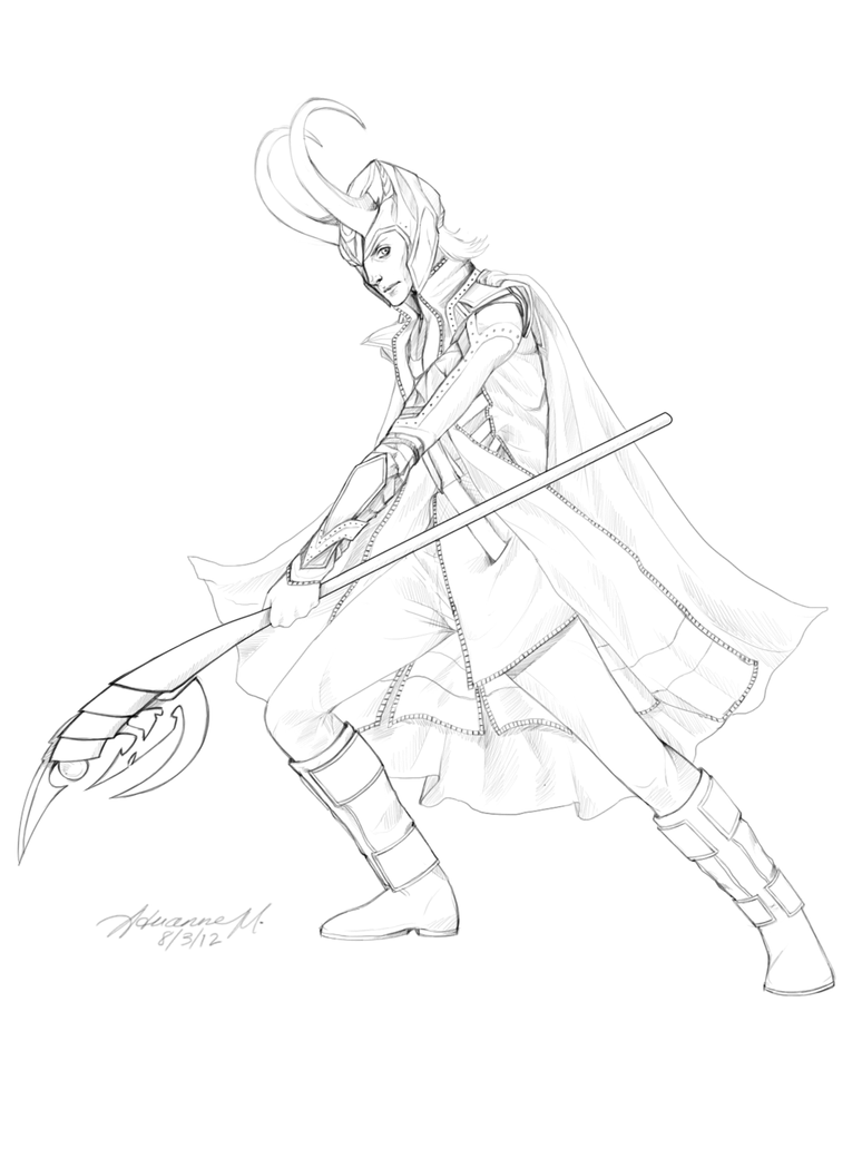 Loki Wand Avondale Style - Coloring Pages