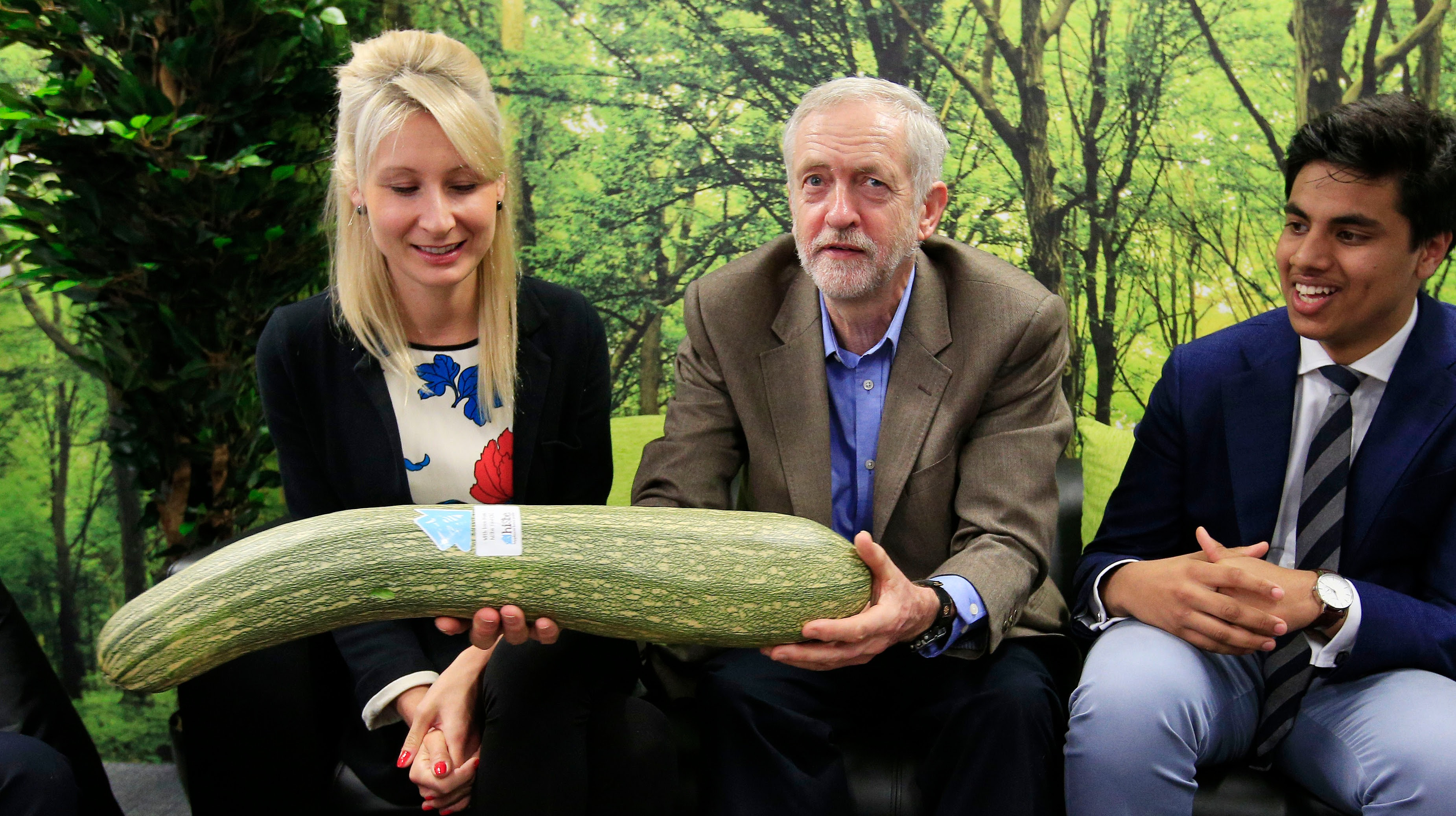 Jeremy Corbyn with marrow
