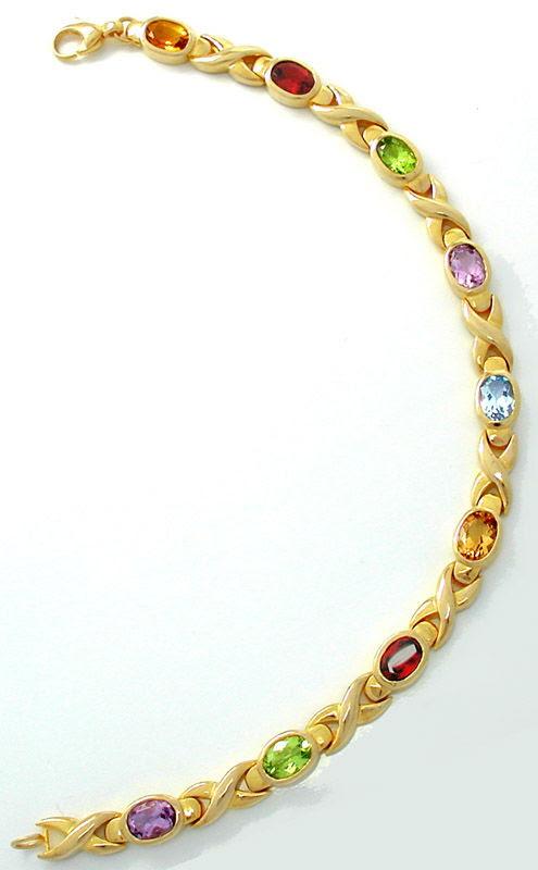 Foto 9, Gold-Ring Gold-Armband, Viele Top-Edelsteine Luxus! Neu, S7490