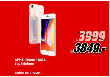 APPLE iPhone 8 64GB Cep Telefonu 3849TL