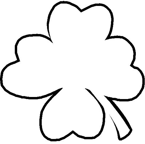 Four Leaf Clover Outline - ClipArt Best