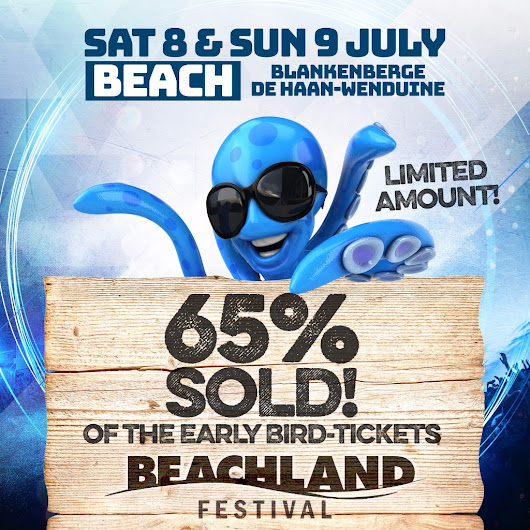 Beachland Early bird tickets 65% sold out
