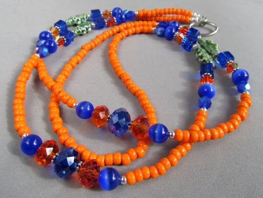 Florida Gators Beaded ID Lanyard University of by Harleypaws