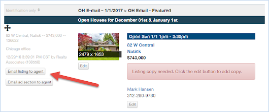 Admaster™ update: Agent email links in the ad proofs