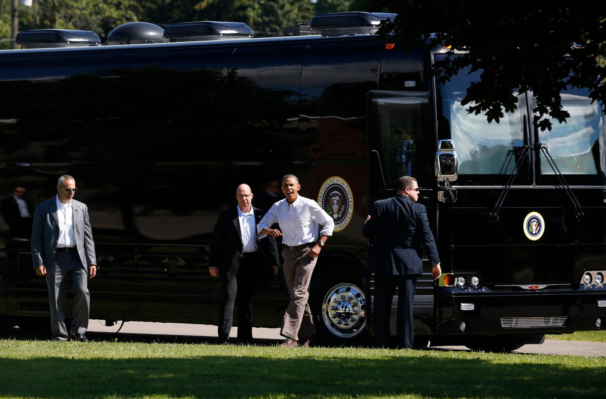 The Secret Service purchased Ground Force One and its twin decoy from the Tennessee-based company Hemphill Brothers Coach for a cool $1.1 million each. But ultimately the buses are cost-effective.