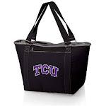 Picnic Time 619-00-175-844-0 Texas Christian University Horned Frogs Digital Print Topanga Tailgate Cooler Tote Bag Black