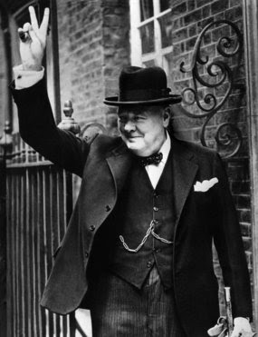 """Cover-up: One of the files says former British prime minister Sir Winston Churchill decided to keep a UFO incident """"secret""""."""