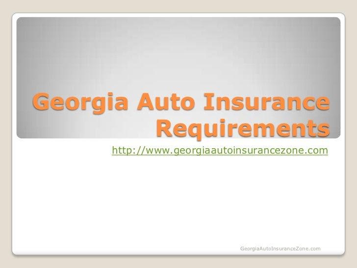 Georgia auto insurance requirements