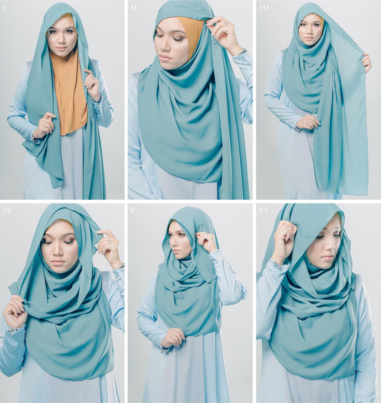 tutorial hijab trendy dan praktis terbaru - model baju muslim terbaru