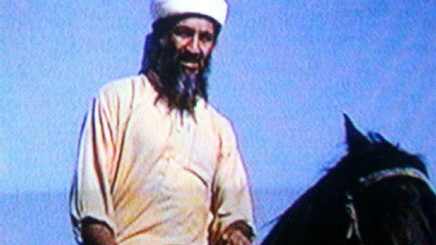 Bin Laden a caballo