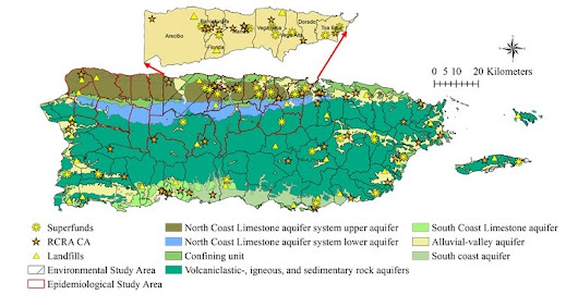 PROTECT » Spatiotemporal assessment of CVOC contamination in karst groundwater sources and exposure at tap water point of use in Puerto Rico