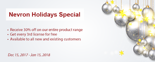 Dec 15, 2017 - Nevron Software - take advantage of the 2017 Holidays Special! | Nevron