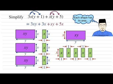How to Simply Algebraic Expression (Tiles Method)