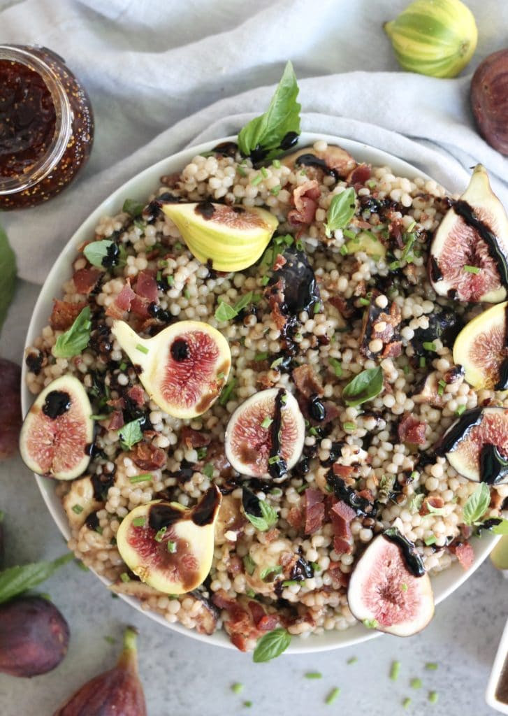 Fig Bacon Balsamic Couscous Salad
