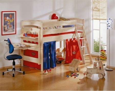 Room Design  Kids on Funny Play Beds For Cool Kids Room Design By Paidi 8 554x440