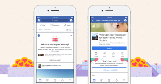 Facebook says birthday fundraisers have raised more than $300 million over the past year