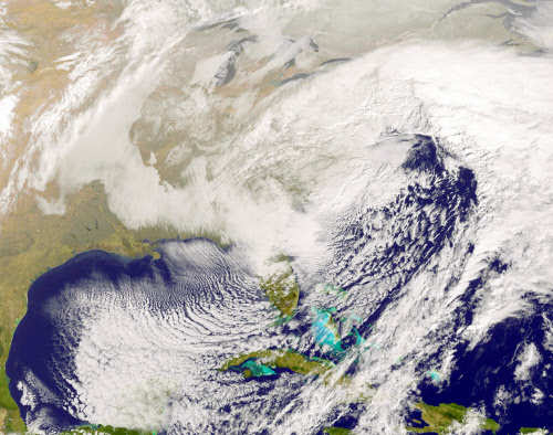 Nasa captures massive US east coast 'snowzilla' from space - Times of India