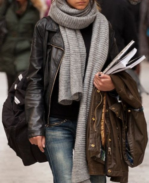Love the grey scarf