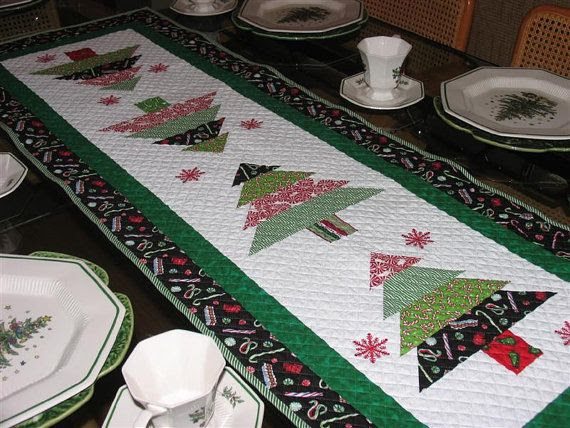 Quilted Christmas Table Runner on Etsy, $90.00 Must have!