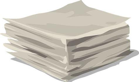 gambar vektor gratis kertas tumpukan dokumen gambar