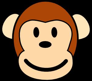 monkey clip art representation