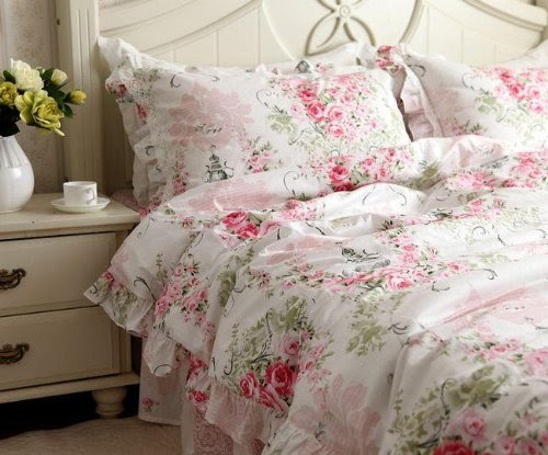 Shabby Chic Bedding Shabby And Elegant New Pink Cotton