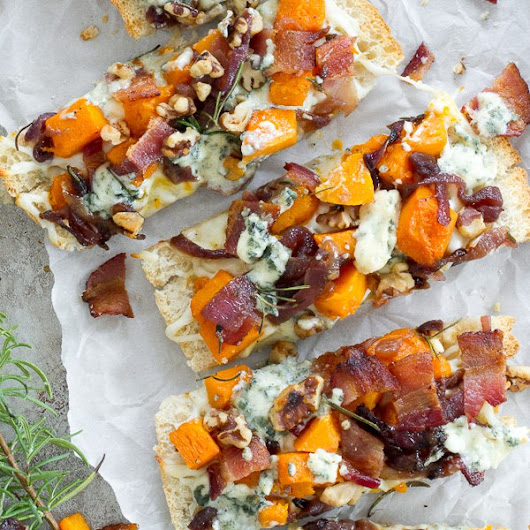 Butternut Squash, Bacon, Blue Cheese Pizza - I'm Bored, Let's Go...