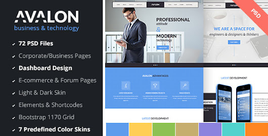 Avalon - Business & Technology PSD Template