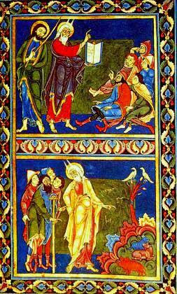 Moses teaching the Israelites