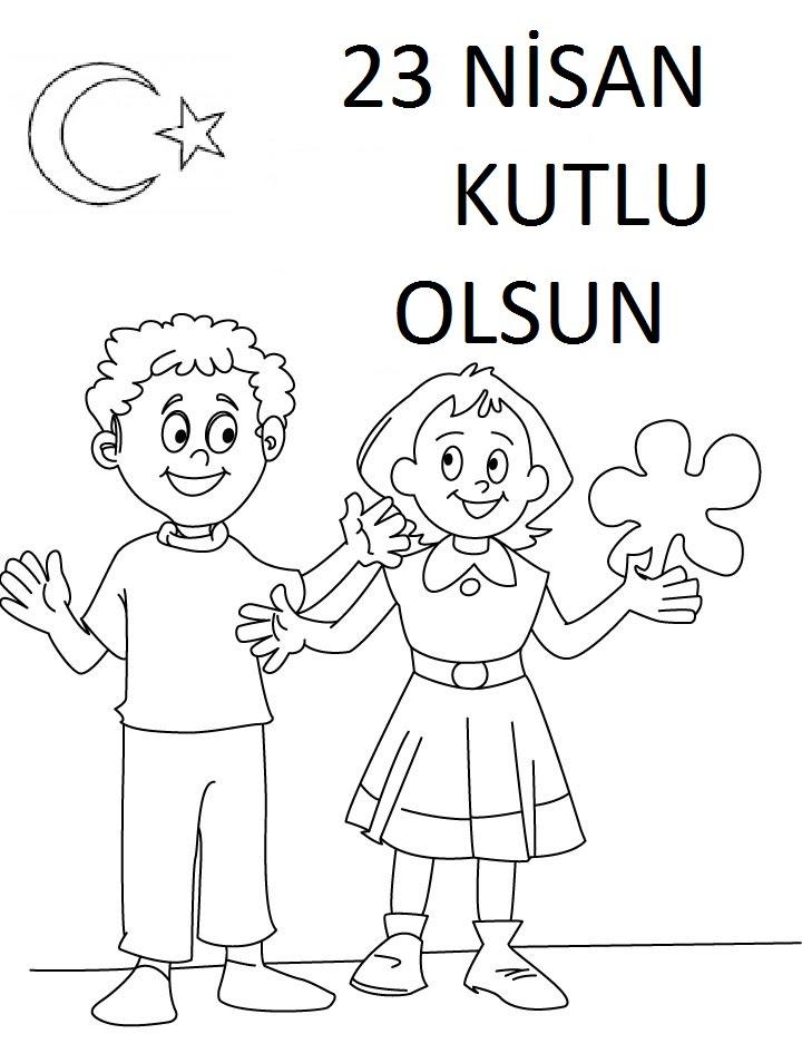23 Nisan Boyama Sayfaları Arabulokucom