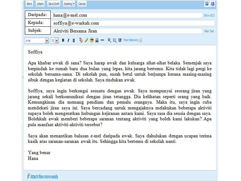 E-MEL TIDAK RASMI - BAHASA MELAYU @ HKSS