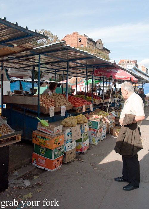 open air stalls at Zhenski Pazar Jenski Pazar Women's Market Sofia