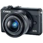 Canon EOS M100 24.2 MP Mirrorless Digital Camera - 1080p - Black - EF-M 15-45mm IS Lens
