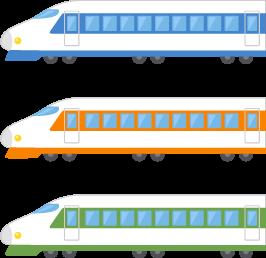 新幹線3色の無料ベクターイラスト素材 Picaboo ピカブー