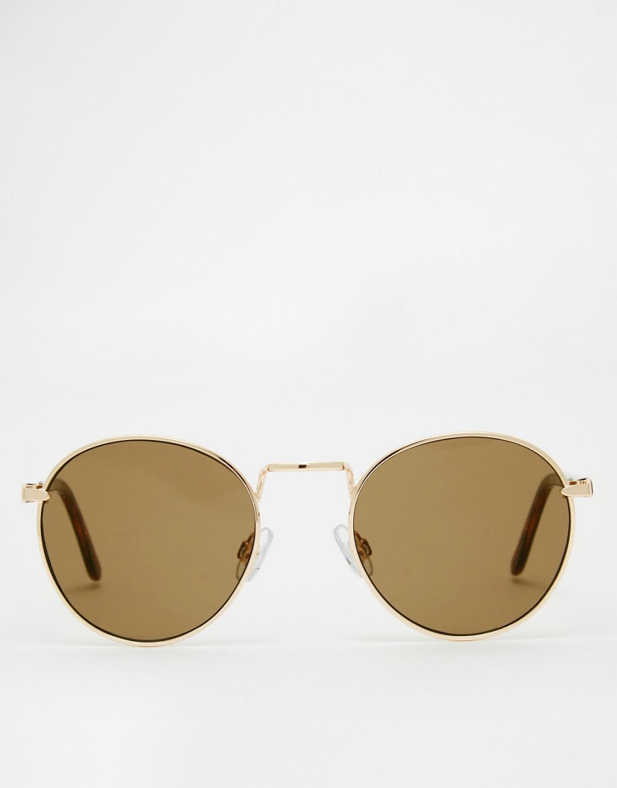 Image 2 ofASOS Metal Small 70s Round With Flat Lens