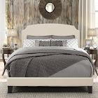 Hillsdale Desi Upholstered Panel Bed, Linen, Queen