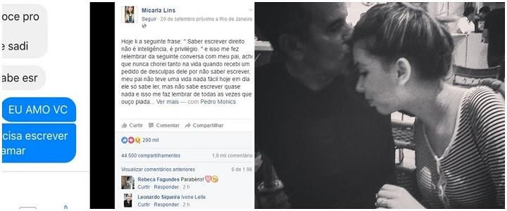 Pai pede desculpas à filha por não saber escrever e recebe resposta comovente