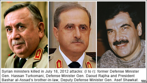 Three Syrian top officials were assassinated in Damascus on July 18, 2012. The US-backed war against the Middle Eastern state is intensifying. by Pan-African News Wire File Photos