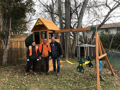 A Wish Comes True: Young Boy with Rare Genetic Skin Condition Receives a Playground of his Own - Construction News | Construction Links | Get Found in Canada